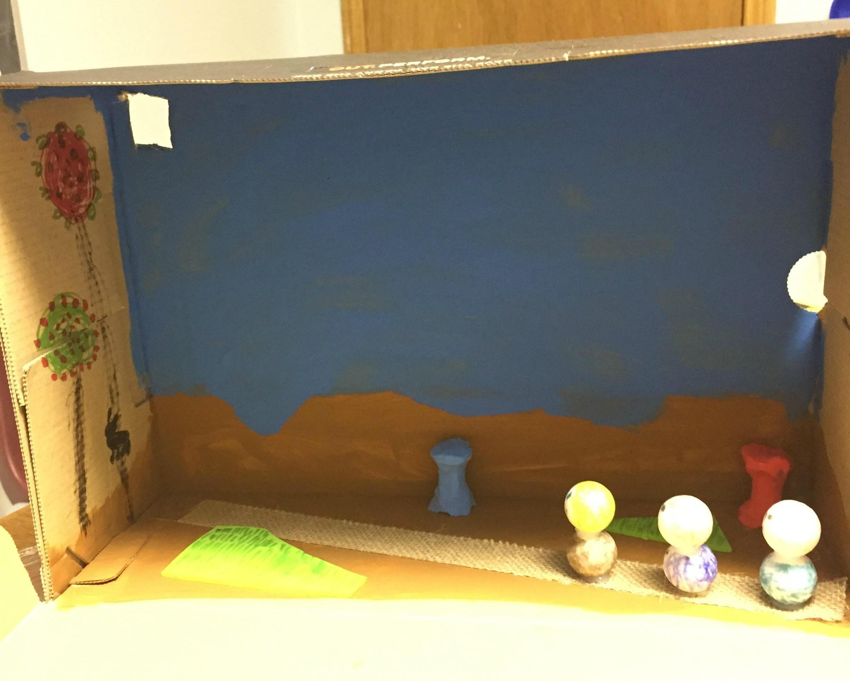 School Project Diorama Art