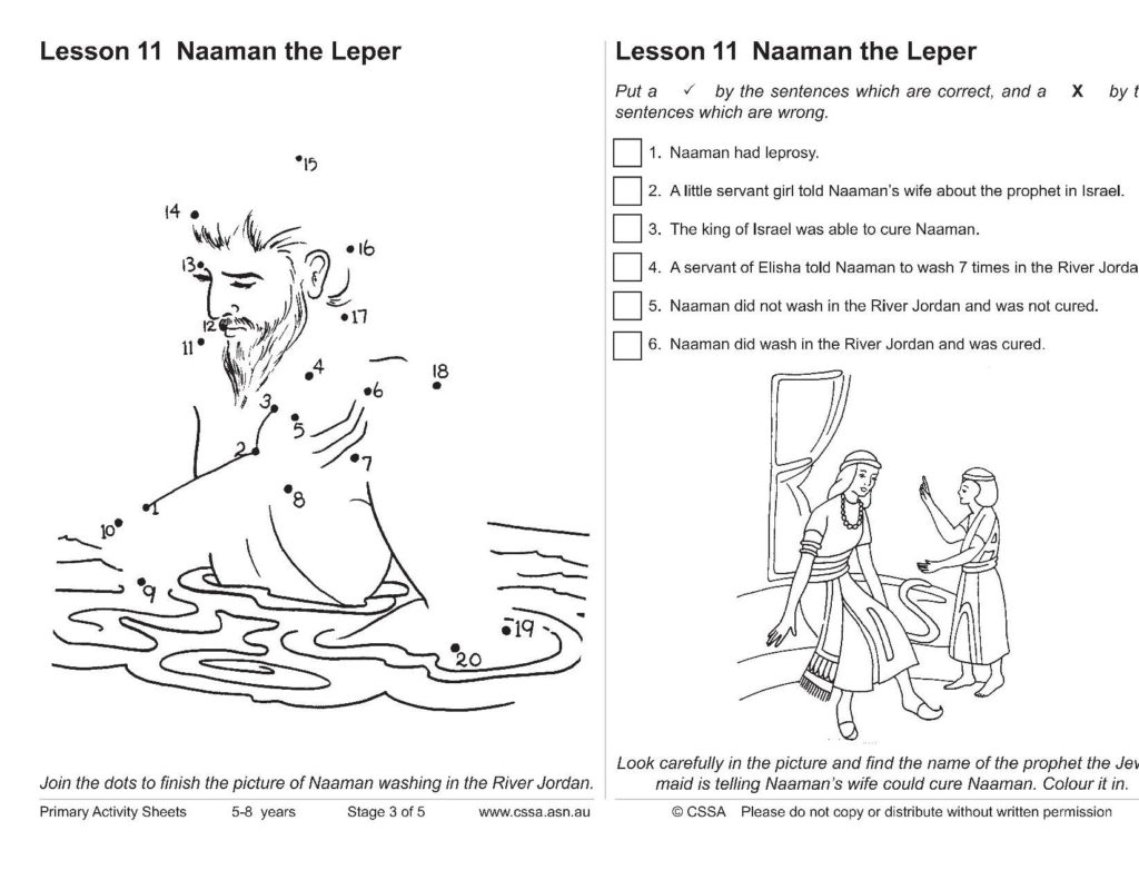 Naaman The Syrian Cssa Primary Stage 3 Lesson 11 Magnify Him Together